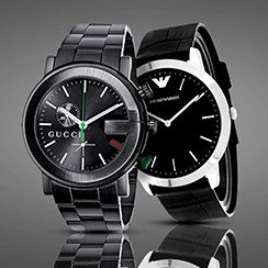Classic Black: Watches by Gucci, Movado, Jivago & more