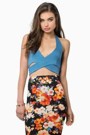 Twist and Halt Crop Top $21