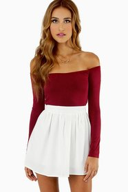 Barely There Off Shoulder Top $21