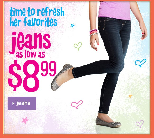 jeans as low as $8.99