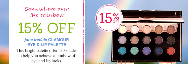 15% Off jane iredale Glamour Eye & Lip Palette!