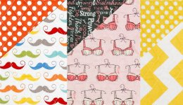 Riley Blake Double Sided Quilted Fabric