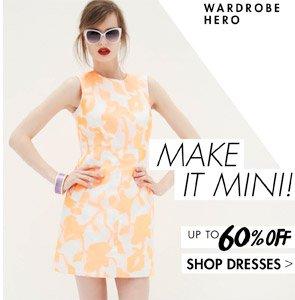 MINI DRESSES UP TO 60% OFF