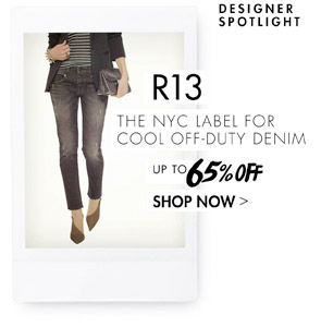 R13 - COOL OFF DUTY DENIM UP TO 65% OFF