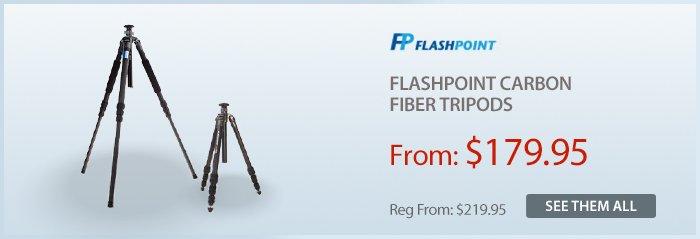 Adorama - Flashpoint Carbon Fiber Tripods