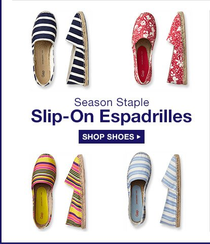 Season Staple | Slip-On Espadrilles | SHOP SHOES