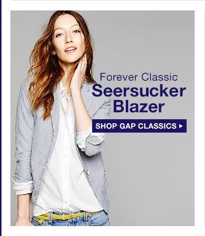 Forver Classic | Seersucker Blazer | SHOP GAP CLASSICS