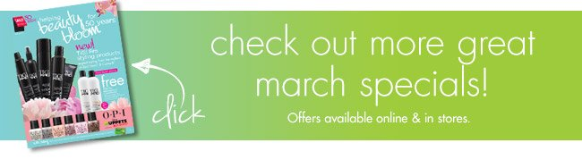 check out more great march specials!