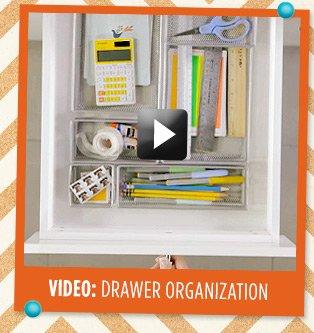 VIDEO: DRAWER ORGANIZATION »