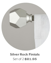 Collection of stylish curtain panels and finials