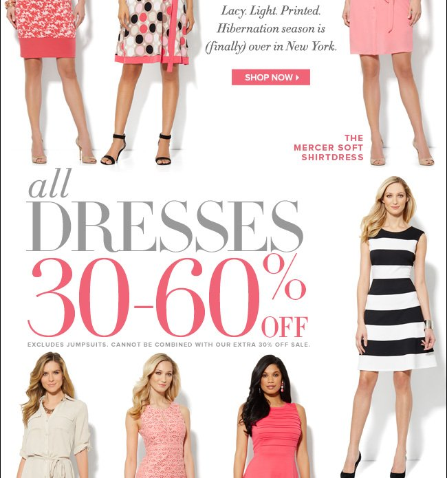 All Dresses 30% to 60% Off!