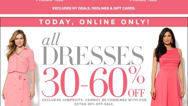 All Dresses 30-60% off