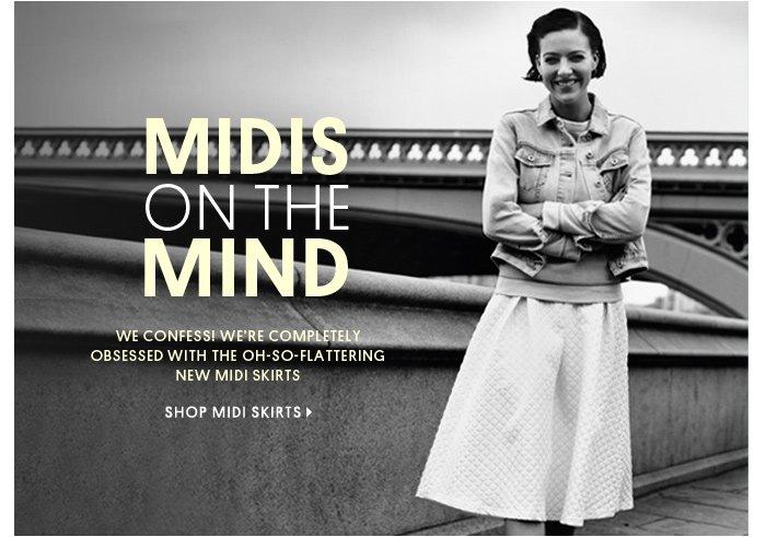 MIDIS ON THE MIND - Shop Midi Skirts