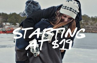 Winter Jackets Starting at $19