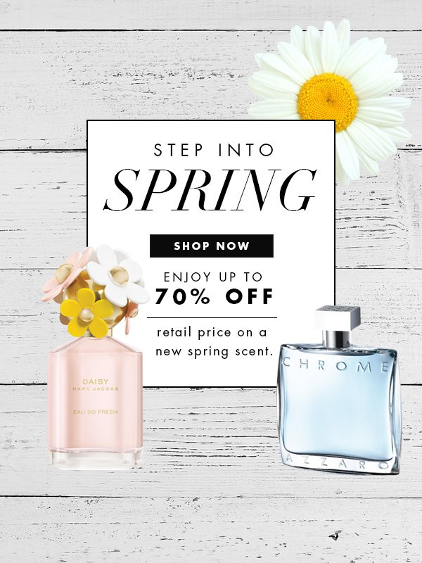 Shop Spring Scents Now - Save up to 70% OFF MSRP