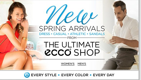 Shop NEW spring arrivals for women and men from the ultimate ECCO shop! Plus, shop our best walking styles from ECCO, plus great ABEO styles including AEROsystem, SMARTsystem, and more and enjoy FREE 2nd Day Shipping!* Shop now to find the best selection online and in stores at The Walking Company.