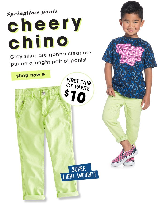 Springtime Chinos - Just $10.