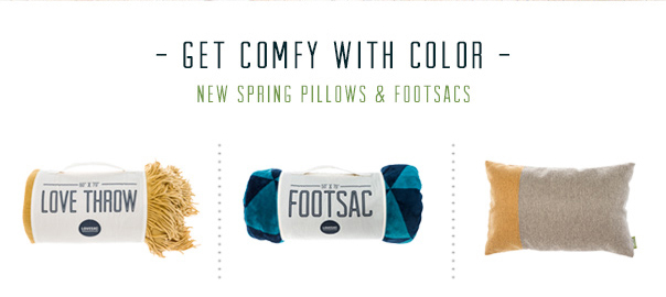 Get Comfy With Color - New Spring Pillows & Footsacs!