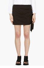 YOHJI YAMAMOTO Black Ribbon Tie Skirt for women