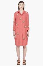 BURBERRY PRORSUM Pink Silk Embellished Coat for women