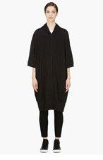 YOHJI YAMAMOTO Black Oversize Square Parker Hoodie for women