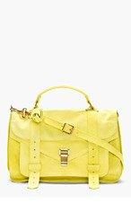 PROENZA SCHOULER Chartreuse Suede PS1 Medium Messenger Bag for women