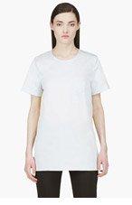 ROKSANDA ILINCIC Powder Blue Contrasting Silk Panel Blouse for women