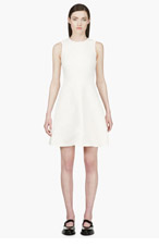 PROENZA SCHOULER Ivory Crepe Wrinkle Effect Dress for women