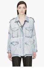 DIESEL Blue faded Dolman De-Iva Denim Jacket for women