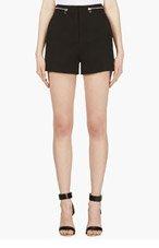 PROENZA SCHOULER Black Stretch Cotton High-Waisted Shorts for women