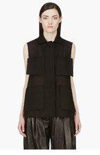 YANG LI Black Raw Couture Blouse for women
