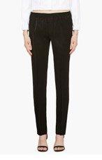 CALVIN KLEIN COLLECTION Black Satin Ufordyce Irise Enver Pants for women
