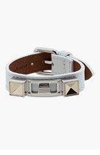 PROENZA SCHOULER White Studded Leather Bracelet for women