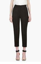 ROKSANDA ILINCIC Black Accent Yoke Cropped Trousers for women