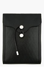 PROENZA SCHOULER Black Embossed Leather Document Clutch for women