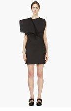 J.W.ANDERSON Black Neoprene Open Bib Dress for women