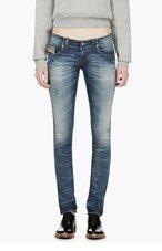 DIESEL Blue Faded Grupee-Ne Jogg Jeans for women