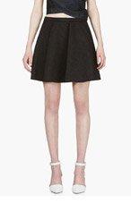 HUSSEIN CHALAYAN Black Wrinkle Effect Circle Skirt for women