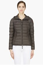 PARAJUMPERS Charcoa lgrey quilted lightweight Juliet jacket for women