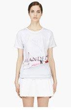 J.W.ANDERSON White Photoprint Logo 'Backstage' T-Shirt for women