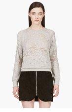IRO Grey Shredded Sweater for women