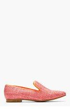 STELLA MCCARTNEY Pink Woven Loafers for women