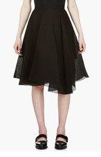 YANG LI Black irregular pleat Circle Skirt for women