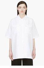 YANG LI White Oversized Blouse for women