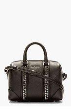 GIVENCHY Black Lucrezia Mini Chain Duffle Bag for women