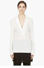 YOHJI YAMAMOTO Ivory Tailored Collar Blouse for women