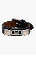 PROENZA SCHOULER Black Leather Studded Bracelet for women