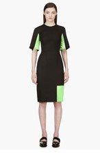 ROKSANDA ILINCIC Black Colorblock Shift Dress for women