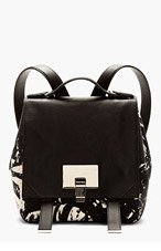PROENZA SCHOULER Black Marbled Canvas PS1 Small Backback for women
