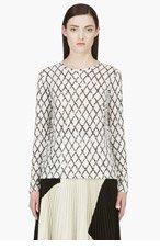 PROENZA SCHOULER White & Black Diamond Check Jersey T-Shirt for women